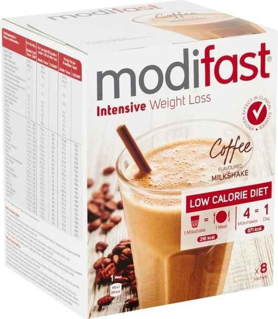 Modifast Koffie Milkshake - Drinkmaaltijd - 8 stuks
