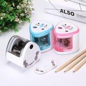 Doogo® Puntenslijper 2 gaten en 8 mm 9 clips 12's mm kinderen de school kantoor aan huis potloodkleurpotloden elektrische puntenslijper