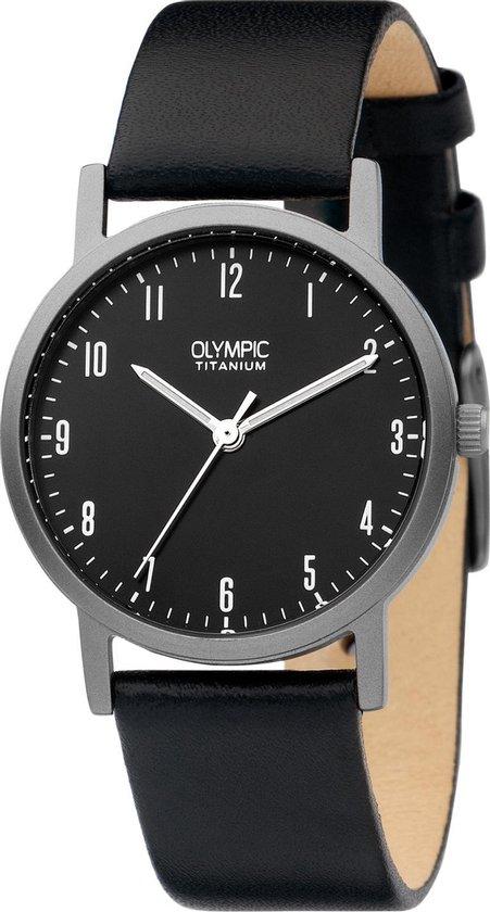 Olympic OL26DTL064 Austin Horloge – Leer – Zwart – 30mm