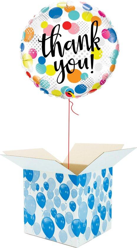 Helium Ballon gevuld met helium - Bedankt! - Cadeauverpakking - Thank You! - Folieballon - Helium ballonnen