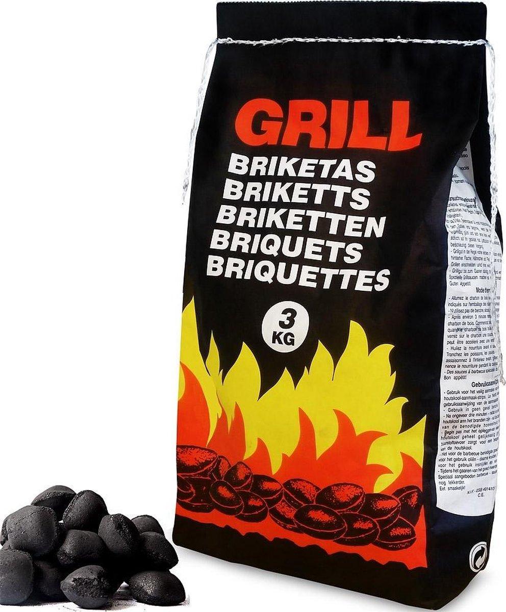 Deuba 27 Kg Houtskoolbriketten 9 x 3 kg Barbecue Grill Briketten BBQ