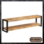 Hip-Wonen.nl - Tv meubel industrieel - 150x30x40 cm - Mangohout & Ijzer