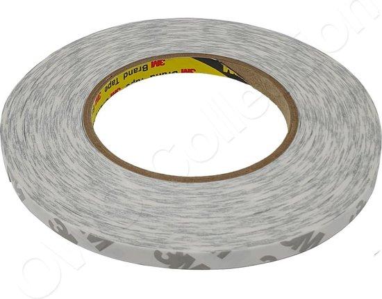 3M dubbelzijdig zelfklevende dunne  montage tape op rol | stickers | plakband | dubbelzijdige | 0,8cm x 50m - Wit | Transparant