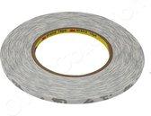 3M dubbelzijdig zelfklevende dunne montage tape op rol | stickers | plakband | dubbelzijdige | 0,5cm x 50m - Wit | Transparant