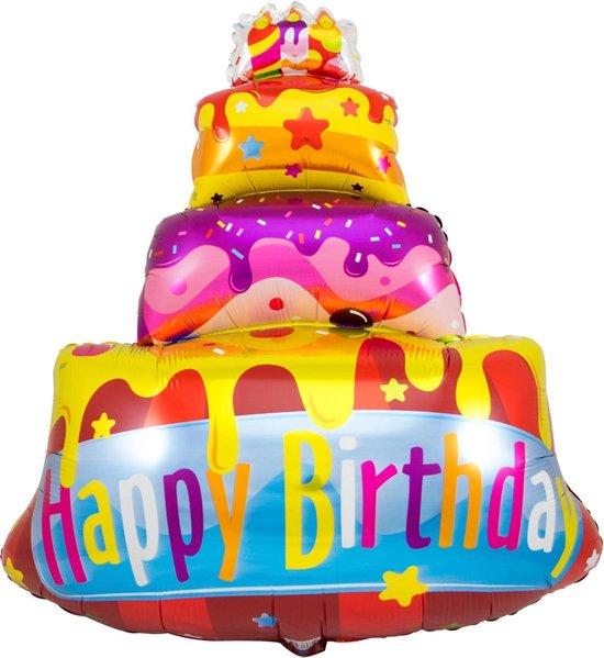 Folat Folieballon Happy Birthday Taart 73 Cm