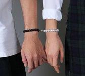 Armbanden set met magneet - Kralen armband - Koppel armband - Armband dames - Armband heren - Romantisch cadeau - cadeau voor hem / haar