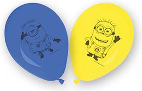 Minions Ballonnen , 8 stuks, 27,5 cm doorsnee, Kinderen , Verjaardag, Feest