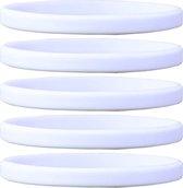Smalle siliconen polsbandjes wit (zak van 50 stuks) voor volwassenen