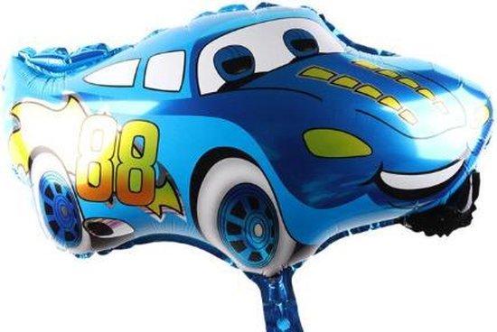 Auto Ballon Blauw - 49x66 cm - Cars - Ballonnen - Verjaardag - Thema - Kinderfeest - Folie ballon - Versiering - Helium ballon