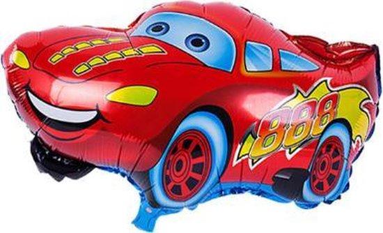 Auto Ballon Rood - 49x66cm - Cars - Ballonnen - Verjaardag - Thema - Kinderfeest - Versiering - Folie ballon - Helium ballon