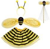 Bijen fee kostuum - 4 in 1 - kinderen - geel