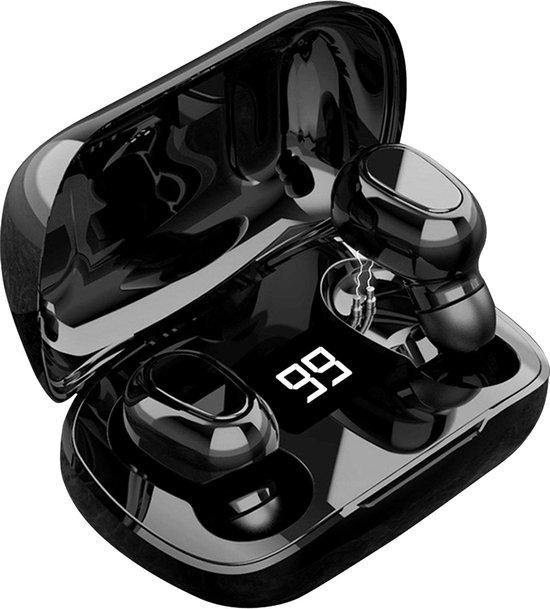 Draadloze Oordopjes - Oortjes Draadloos - In ear Oordopjes - Draadloze oortjes Bluetooth - Earbuds met Extra Bas Compacte Alternatief Airpods Geschikt voor Sport / Hardlopen / Samsung Galaxy / Apple iPhone / Huawei / Android - Zwart