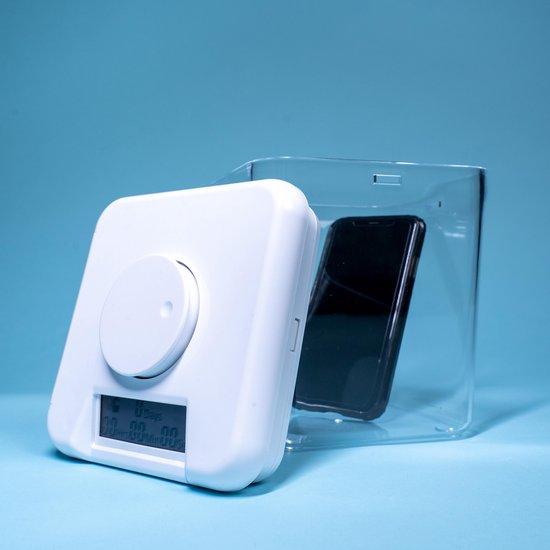 FocusBox - Telefoon kluis met tijdslot - Tijd Vergrendelende Box - Telefoon Gevangenis - Phone Jail - Smartphone kluis – Telefoon box - Timer – Opbergdoos - Stoppen met roken - Keuken kluis - Kitchen safe