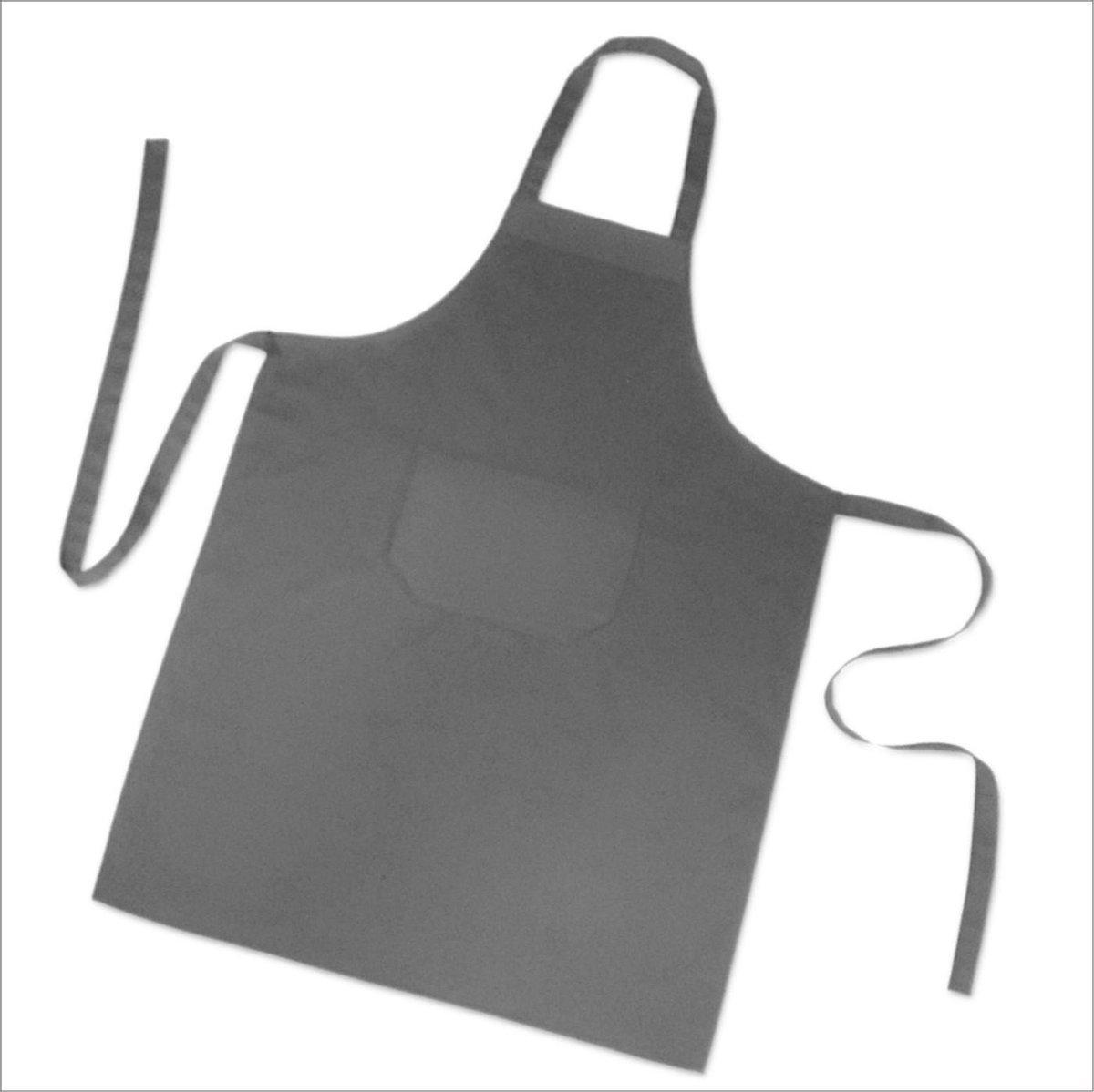 Homéé® Horeca suite Keukenschorten BBQ BIB Apron - donker grijs - 70x100 cm - 2 stuks