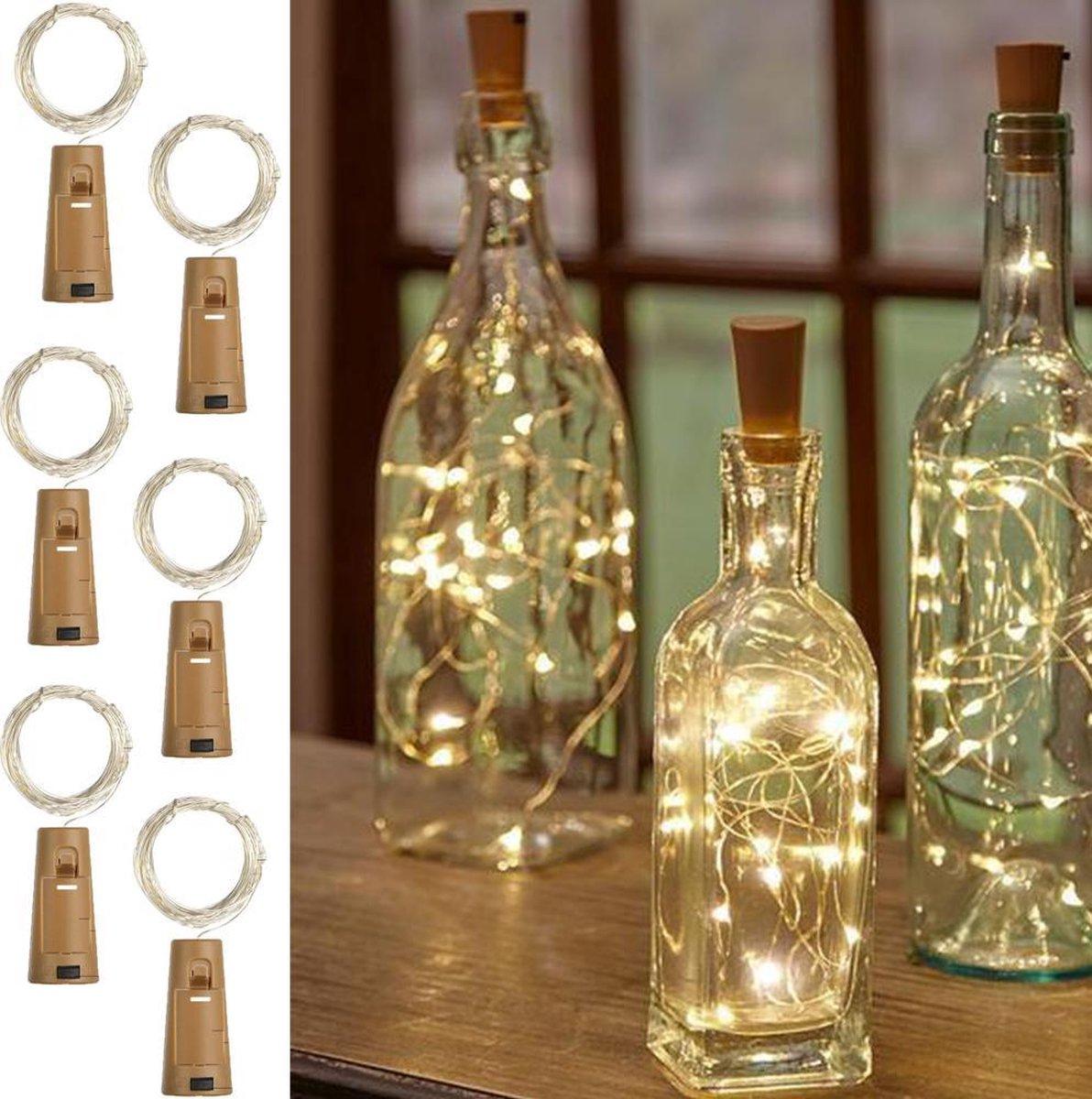 Made4Home  - Kurk met LED   Flesverlichting   Sfeerverlichting   Flessenlamp   Wijnfles   Lichtkurk