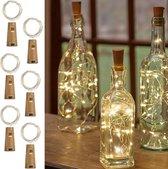 Made4Home® - Kurk met LED | Flesverlichting | Sfeerverlichting | Flessenlamp | Wijnfles | Lichtkurk |Kurk set |Inclusief batterijen | Warm wit licht | 55cm | 6 stuks