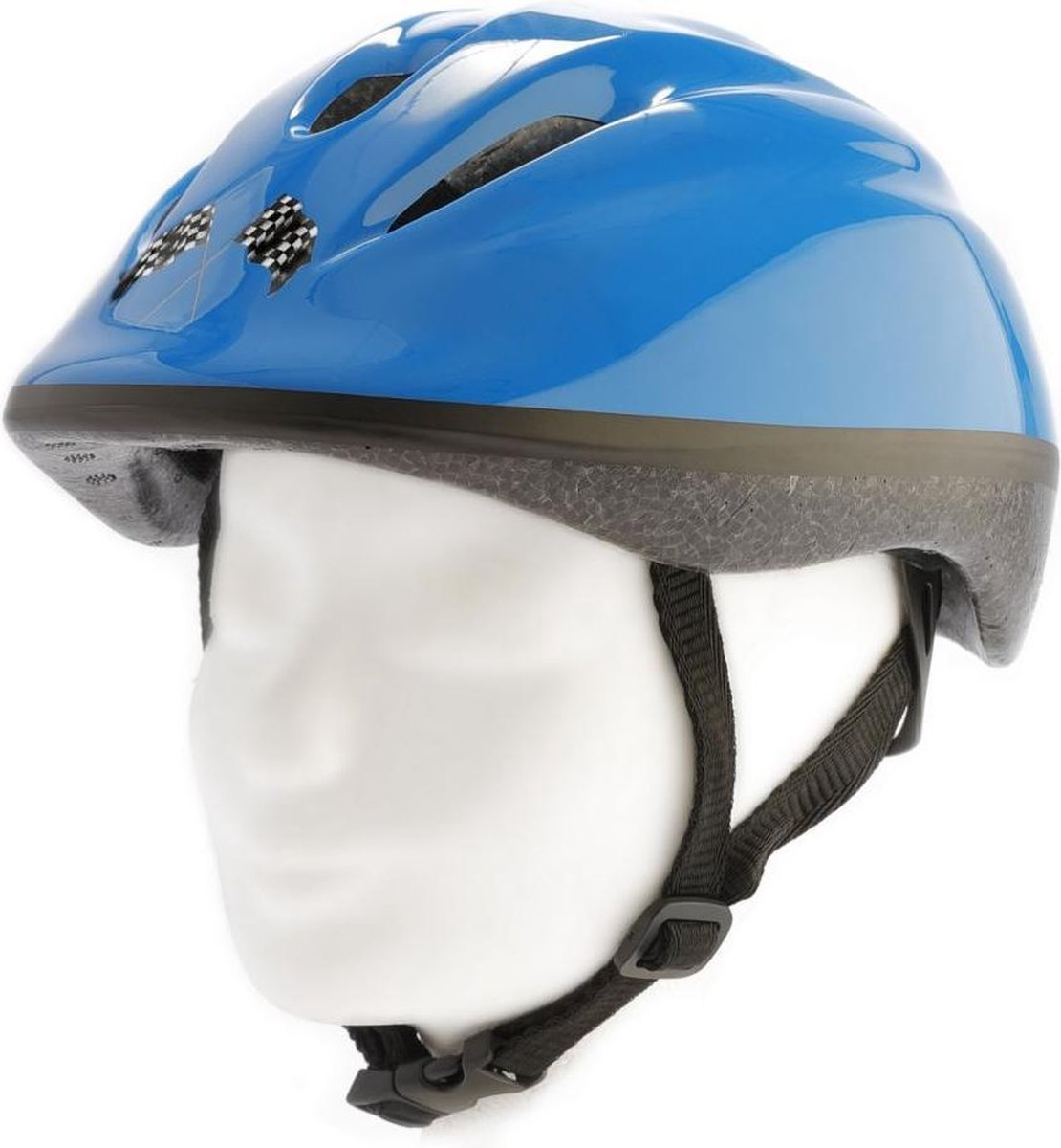 Pexkids fiets helm junior Car maat 52/56 cm kleur blauw
