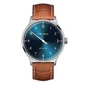 Prisma Design 'Einzeiger' - Eenwijzer Horloge Blauw 40mm