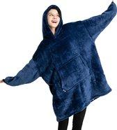 JAXY TV Deken - Hoodie Deken - Hoodie Blanket - Deken Met Mouwen - Oversized Hoodie - Oodie - Fleece Deken - Sherpa - Indoor/Outdoor Coat - Blauw