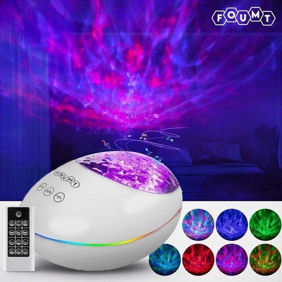 Foumt LuckyStone Sterren Projector - Nachtlamp - Galaxy projector - White noise machine - Muziek box bluetooth - Wit