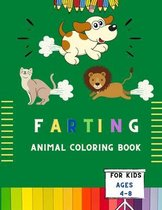 Farting animal coloring book for kids ages 4-8
