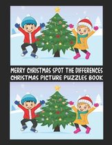 Merry Christmas Spot The Differences Christmas Picture Puzzles Book