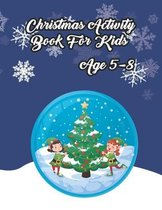 Christmas Activity Book for Kids Ages 5-8