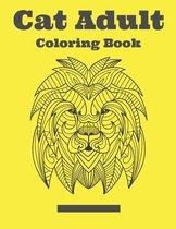 Cat Adult Coloring Book