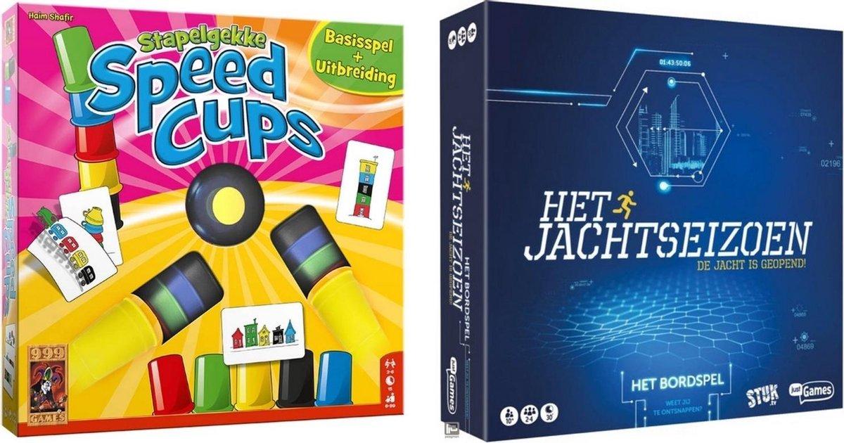 Spellenbundel - Bordspel - 2 Stuks - Stapelgekke Speedcups - 6 spelers & Jachtseizoen