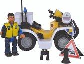 Brandweerman Sam Politie quad inclusief figuur