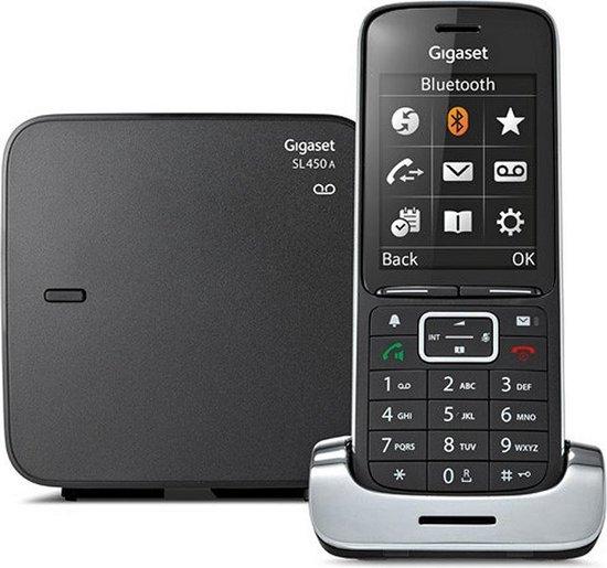 Gigaset SL450A - Single DECT telefoon - met antwoordapparaat - Zwart