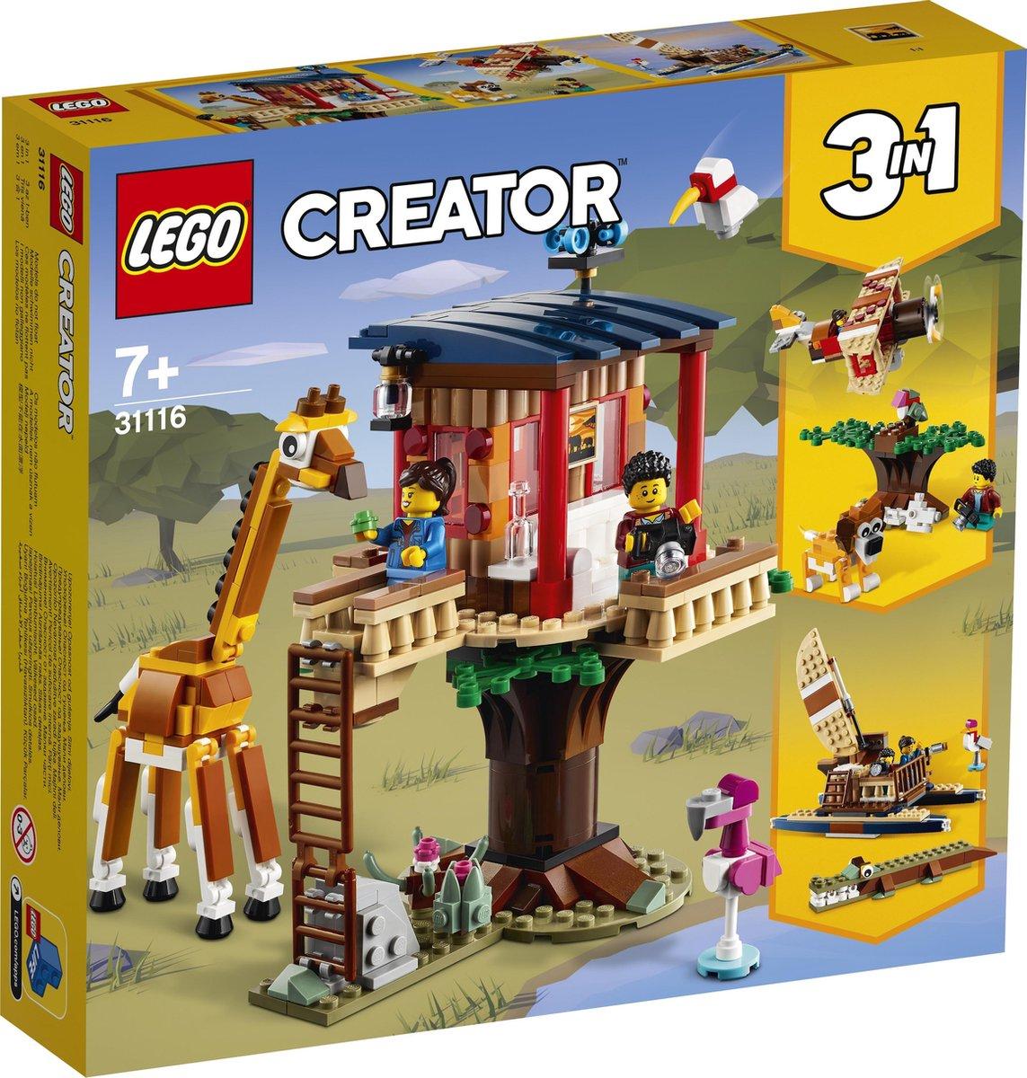 LEGO Creator Safari Wilde Dieren Boomhuis - 31116