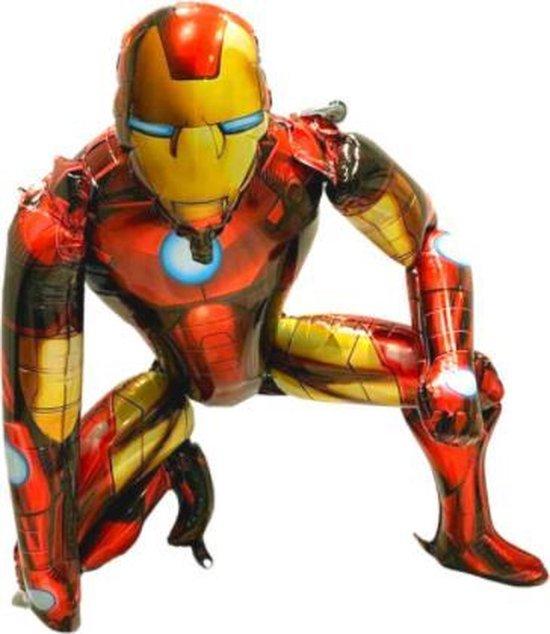 Iron man 3D XL Ballon - 66x55,5cm - Folie Ballon - Thema Verjaardag - Superheld - versiering - Ballonnen - Helium ballon
