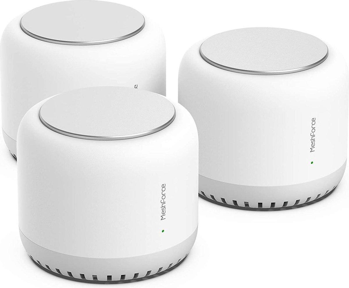 MeshForce AC2100 tri-band - Wifi Router - Mesh Wifi - Multi Room Wifi - 6000m2 - 3-Pack - Wit