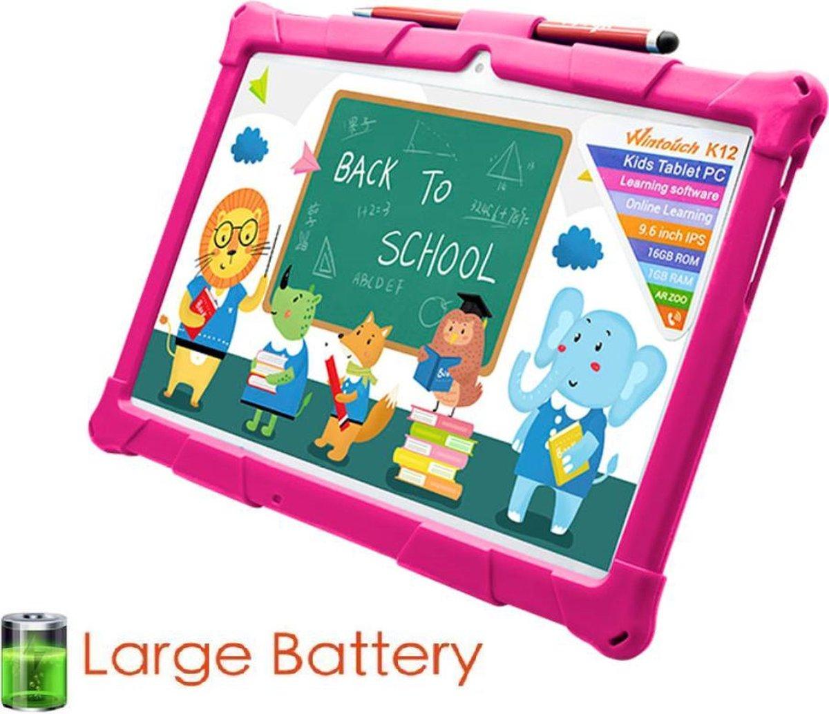 Kindertablet smart - kidstablet disney+ netflix - Tablet 10 inch - 32GB - vanaf 2 jaar - Scherp hd ips beeld - leerzame tablet voor kinderen - Wifi - Bluetooth - voor camera - sim kaart slots - kinder tablet - uitstekende batterij - 1 jaar garantie