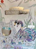 Adult Colouring Book - Deco Time - Kleurboek voor volwassenen - 160 pagina's - zilver