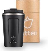 Vatten® Premium RVS Koffiebeker To Go - Zwart - 355ml - Thermosbeker - Theebeker