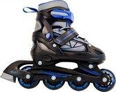 AMIGO Fuse Inlineskates - Skeelers voor jongens en meisjes - Zwart/Blauw - Maat 30-33