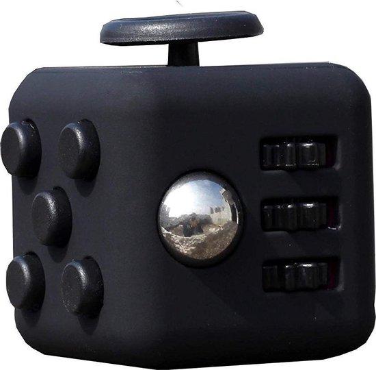 Kwalitatieve Fidget Cube / FriemelKubus | Anti Stress Speelgoed | Fidget Toy - Zwart-Zwart
