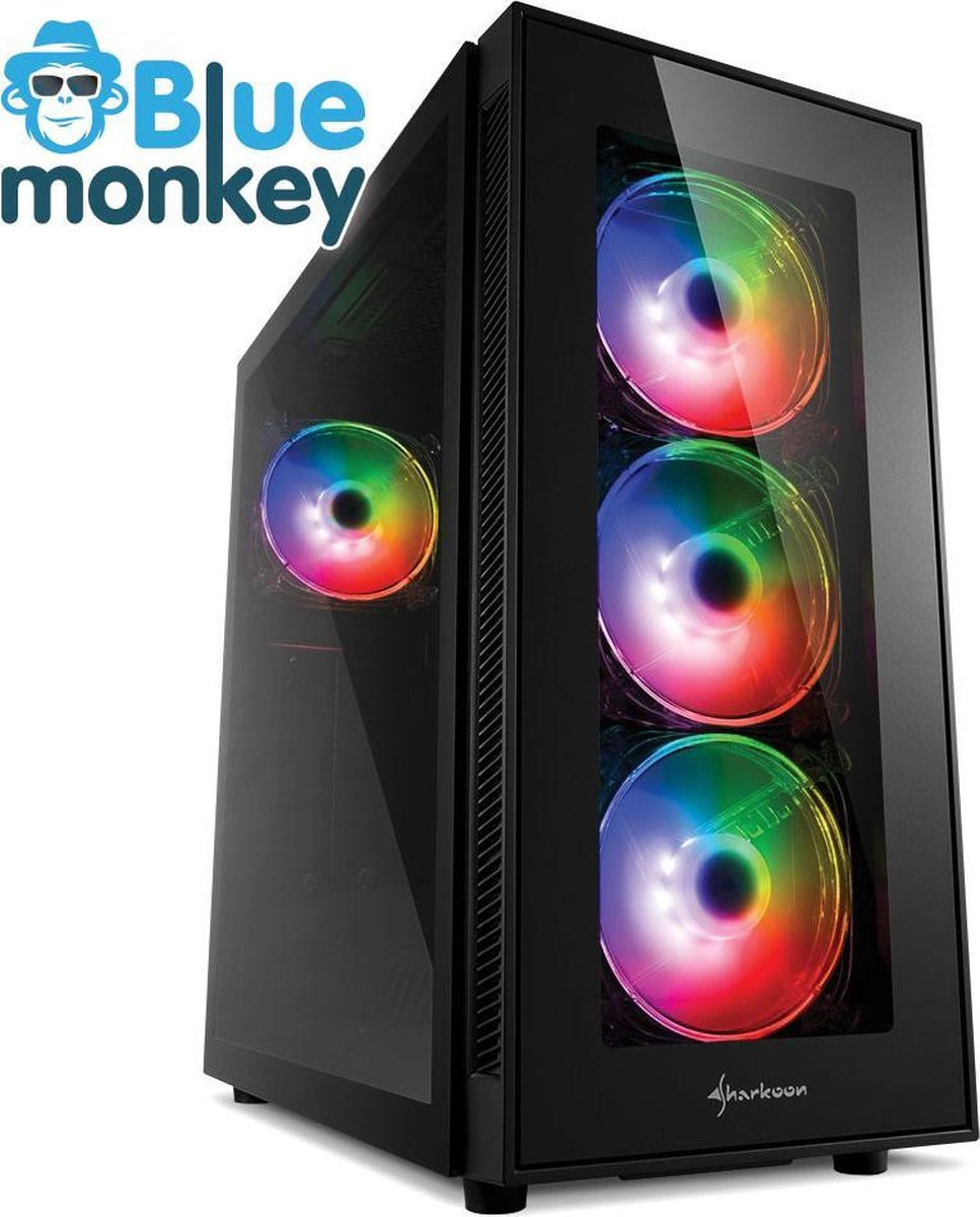 Blue Monkey High end game PC: i7 11700K - RTX 3060 ti - 1 TB M2.0SSD - 16 GB RGB DDR4 - WiFi & Bluetooth