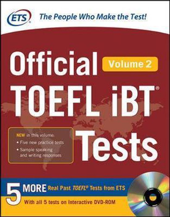 Boek cover Official TOEFL iBT (R) Tests Volume 2 van Educational Testing Service (Hardcover)