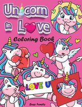 Unicorn in Love Coloring Book