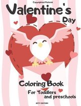 Valentine's Day Coloring Book For Toddlers and preschools