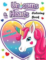 Unicorns & Hearts Coloring Book