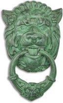 Deurklopper - Gietijzeren leeuw hoofd - Groen bronskleur - 19,6 cm breed