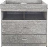 Commode aankleedtafel Pukkie - ladekast babykamer - grijs beton look