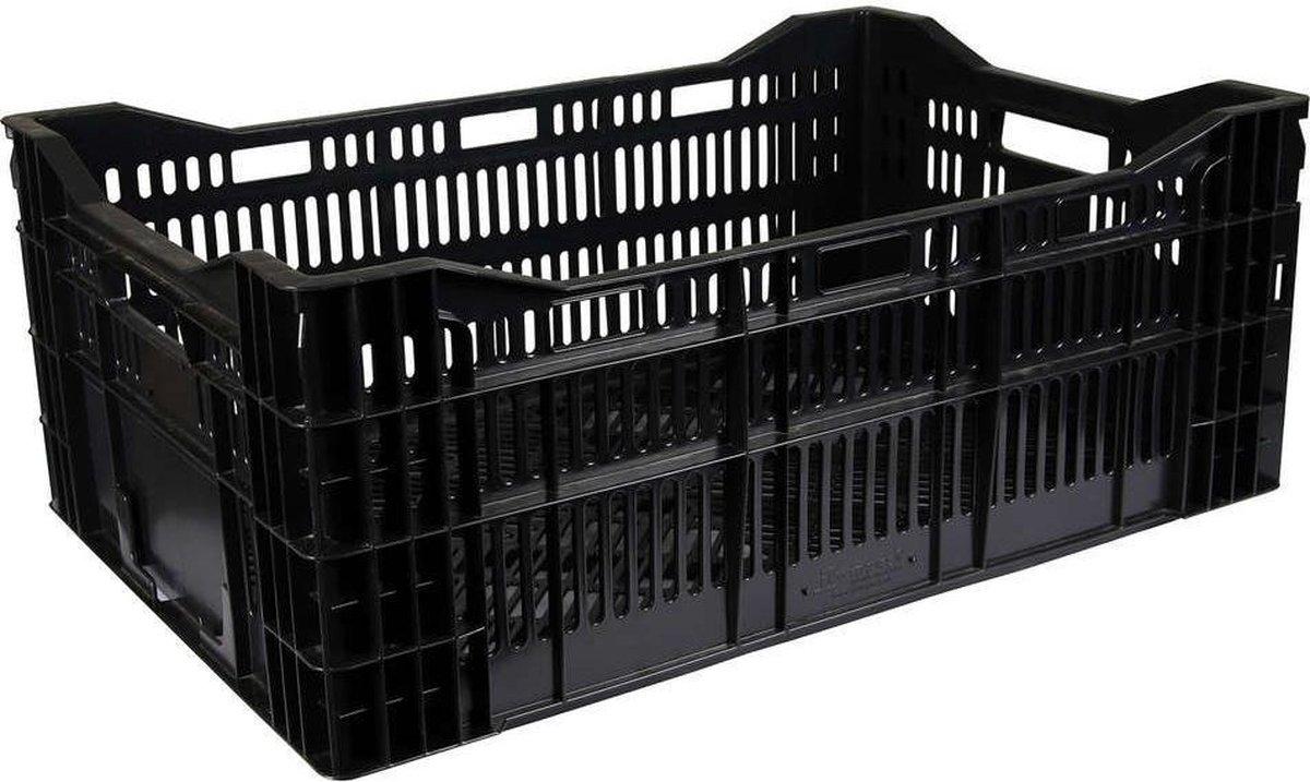 Kunststof krat 60x40x18 -zwart- 33 l