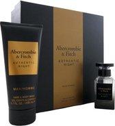 Abercrombie & Fitch Authentic Night Man - Men Set 50 ml Eau de toilette & 200 ml Showergel