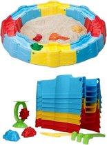 Glim® Zandbak speelgoed - Stapelbaar – Buiten speelgoed – Jongen & meisje – Zomer cadeau kinderen – Incl. schep, hark & water speelgoed