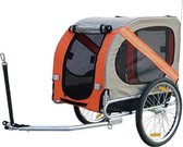 Hondenfietskar - Fietskar Top Travel - Oranje Grijs